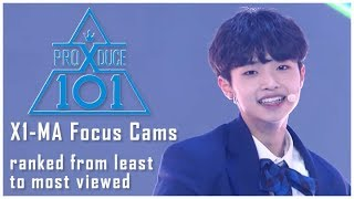 PRODUCE X 101 - 지마 (X1-MA) Focus Cams - Ranked by Views (YouTube + Naver Views) - PRE-SHOW