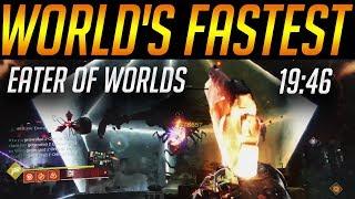 Destiny 2 - World's Fastest Eater of Worlds Speedrun!! 19:46 by Euros
