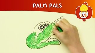 Palm Pals | How to draw alligator and Wolf? | Cartoon for Children - Luli TV