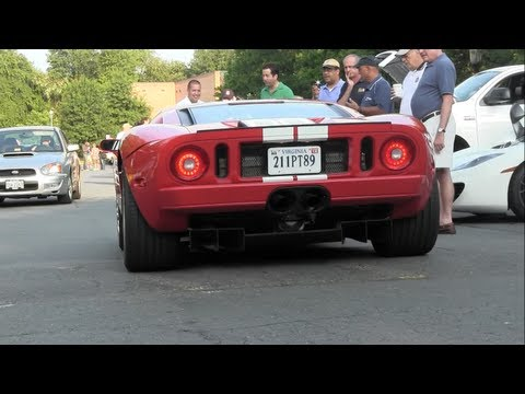 Ford GT - Nissan GTR - Ferrari FF - Cars and Coffee !