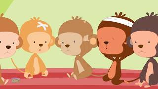 Five Little Monkey Jumping On The Bed | Nursery Rhymes | Kids Songs