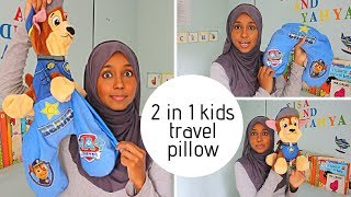 Travel pillow for kids - 2 in 1  character travel pillow