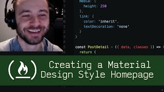 Creating a Material Design Style Homepage (P5D16) - Live Coding with Jesse