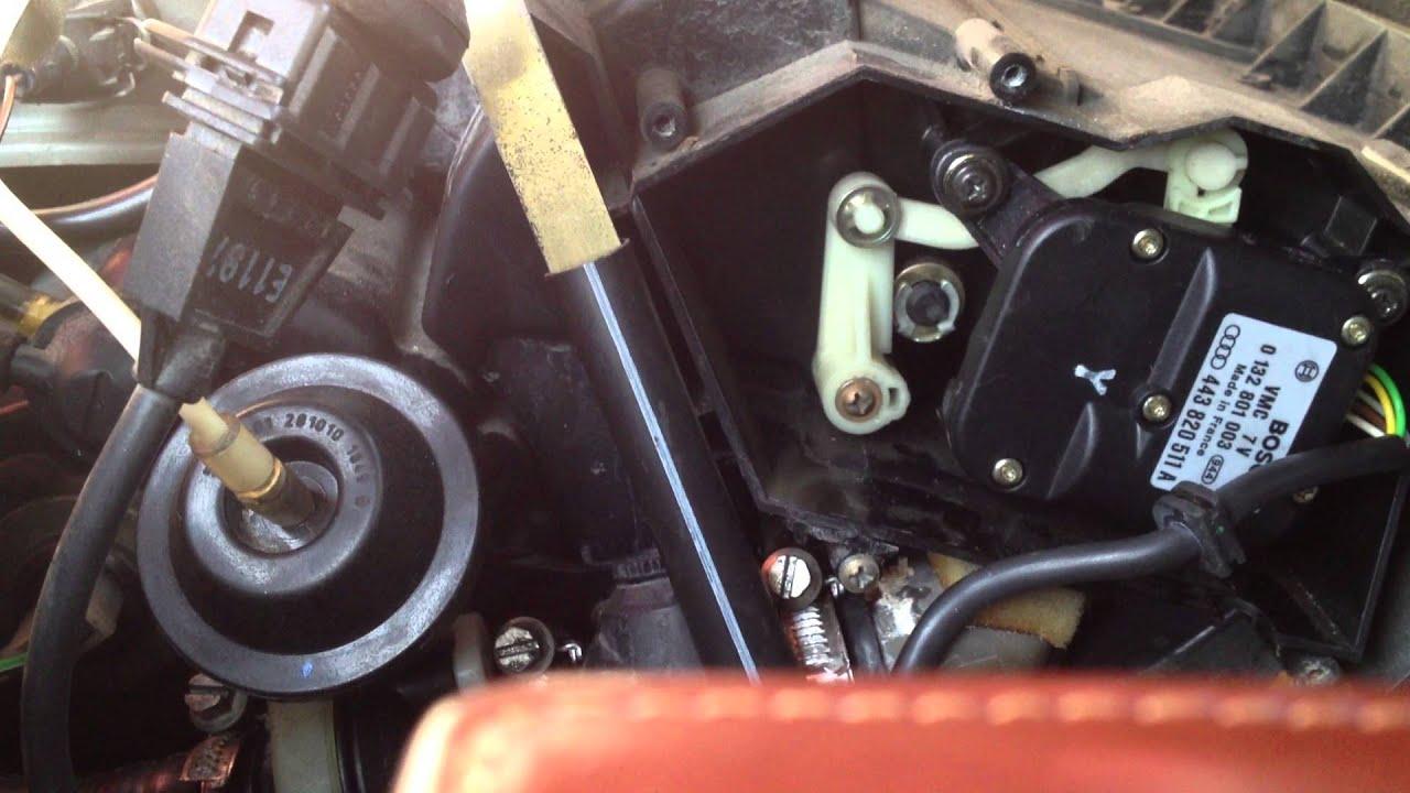 Audi A6 C4 Heater Cold Hot Air Vent Operating Bosch
