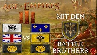 Das unsichtbare Dorfzentrum // 3vs3 mit Battlebrothers als Deutscher // Age of Empires 3