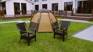 Toogh 3-4 Person Camping Tent Backpacking Tents Hexagon Waterproof Dome Automatic Pop-Up
