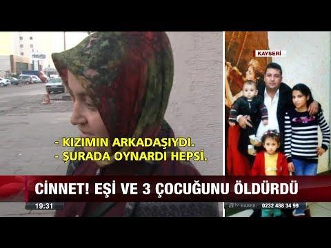 Cinnet! Eşi ve 3 çocuğunu öldürdü!  - 13 Aralık 2017