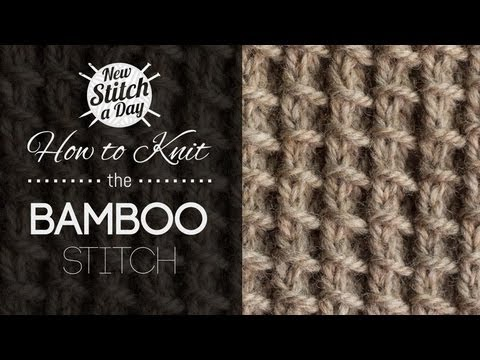 How to Knit the Bamboo Stitch {English Style}