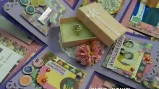 Special Handmade Wedding Gift Ideas/For Her/Creative Gifts/Pink n Purple Explosion Box with Ring