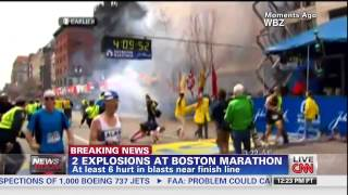 Взрывы в Бостоне / Boston Marathon Explosion - CNN 15.04.2013