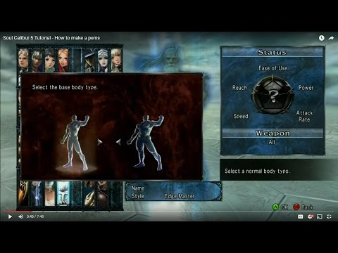 Soul Calibur 5 Tutorial - How to make a penis