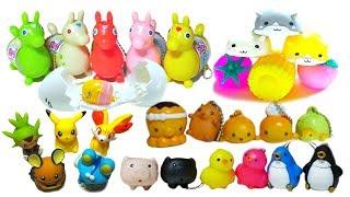 Animal Bread Hamster Rody Pokemon Gudetama Air Squeeze Toy Compilation