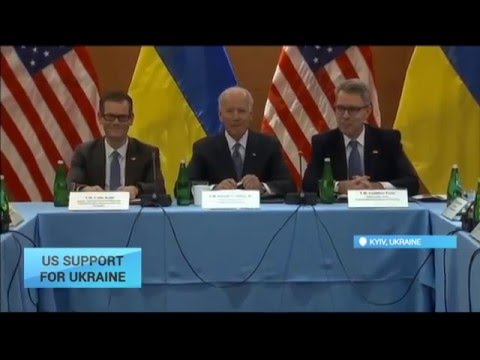 US Support for Ukraine: Vice President Joe Biden arrives in Ukrainian capital
