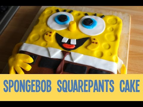 How to make a SpongeBob SquarePants Cake (AD)