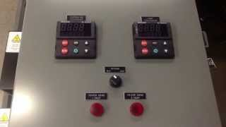 Control Panel - Dual Zone Temperature Control with Limit and Ethernet Watlow Controls