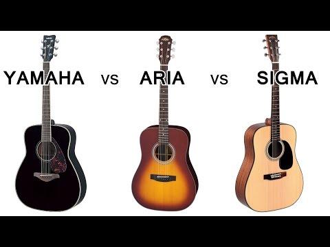 Тимур Ведерников. Сравнительный обзор акустических гитар YAMAHA, ARIA, SIGMA