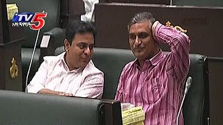 తెలంగాణ అసెంబ్లీలో బావ బామ్మర్దుల సందడి !  | KTR, Harish Rao Special Attraction |  TV5 News