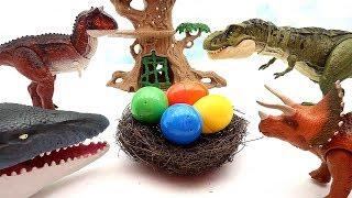 Who's Dinosaur Eggs? Jurassic World Dino Egg Hatching Toys - Surprise Dinosaurs For Kids