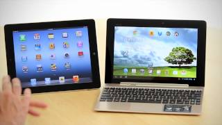 new iPad (iPad 3) compared against the ASUS Transformer Prime