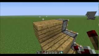 Minecraft Tutorial - How to Make a Redstone Staircase (HD)