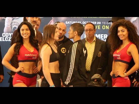 WAR TAYLOR! - KATIE TAYLOR v CINDY SERRANO - OFFICIAL WEIGH-IN FROM BOSTON / TAYLOR-SERRANO