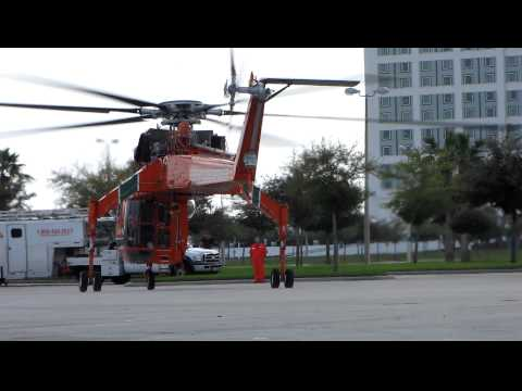 Skycrane landing at Orlando Convention Center HELI-EXPO 2011 3/2/11