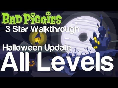 Bad Piggies 5-1 to 5-IV All Levels Tusk til Dawn Halloween Update 3 Star Walkthrough