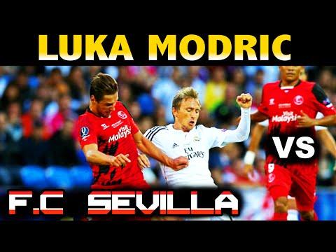 LUKA MODRIC vs F.C. SEVILLA UEFA SUPERCUP 2014 ( 12/08/2014 - 12.08.2014 ) [HD]