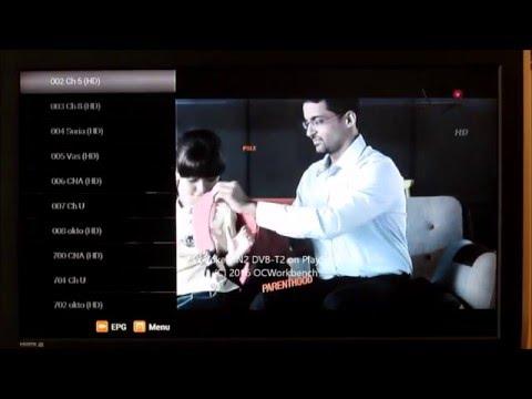 Tuning in DVB-T2 broadcasts using Vodoke FIN2 USB stick