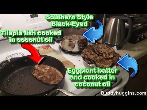 Cook Tilapia Eggplant And Black Eyed Peas   Organic Southern Black Eyed Peas Recipe