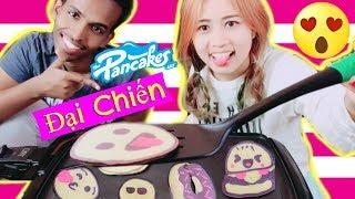 Đại Chiến Bánh Pancake Biểu Cảm Emoji Anh Abdi & Chị Kem Bơ - Ai Sẽ Thắng?