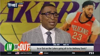 First Things First | Nick & Cris DEBATE: In or Out on the Lakers going all-in for Anthony Davis?