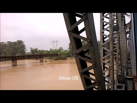 Explore Punjab: Dhilwan to Beas Jn  Crossing River BEAS   Chandigarh - Amritsar LHB Intercity