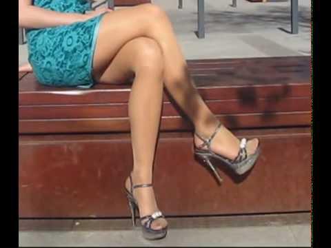 Heather Childers Dark Tan Pantyhose 01 28 13 HD