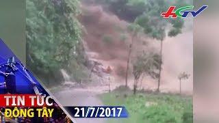 Lũ ống cuồn cuộn như thác đổ tràn xuống đường | Tin tức Đông Tây - 21/7/2017