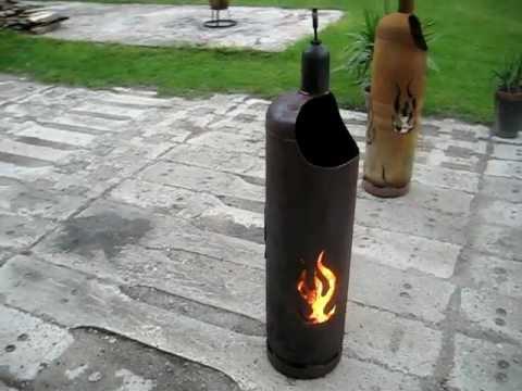 feuertonne flammendesign 33kg gasflasche terrassenfeuer. Black Bedroom Furniture Sets. Home Design Ideas