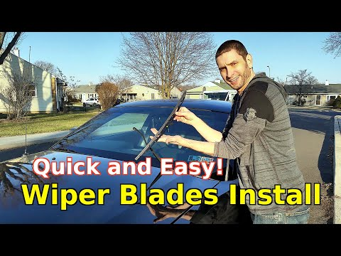 How To Easily Install Change Replace Car Wiper Blades Ford Motorcraft Wear Indicator Review DIY