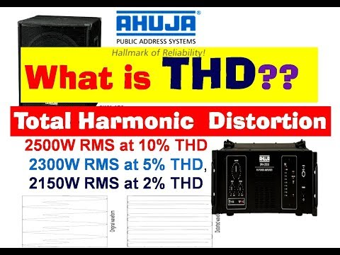 THD  in audio amplifier 2% 5% or 10% total harmonic distortion thumbnail