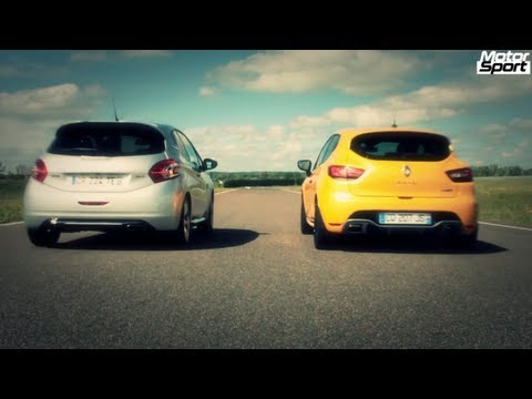Drag Race : Renault Clio RS VS Peugeot 208 GTi (Motorsport)