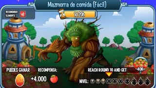 Monster Legends - Mazmorra de Comida Facil - Natura