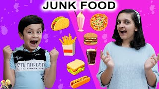JUNK FOOD CHALLENGE | Eating favourite food with toothpick | Aayu and Pihu Show