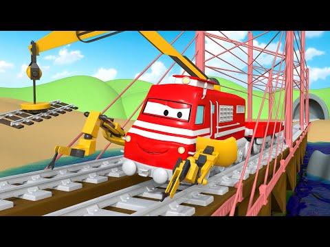 Поезд Трой - Поезд строитель Трой чинит мост! - детский мультфильм