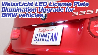 WeissLicht LED License Plate Illumination Upgrade for BMW vehicles