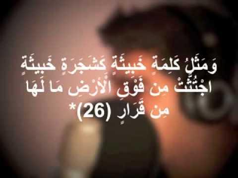 مشاري البغلي - (ألم تر كيف ضرب الله مثلا كلمة طيبة كشجرة طيبه اصلها ثابت وفرعها في السماء )