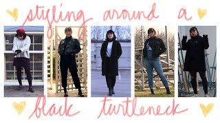 ♥ styling around a black turtleneck   ootw ♥