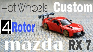 hot Wheels Custom 95 Mazda RX7 wide body