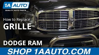 How to Replace Install 2006-08 Dodge Ram 1500 Grille BUY QUALITY AUTO PARTS AT 1AAUTO.COM