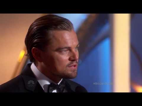 Leonardo DiCaprio exceptional winner speech at the 71st annual golden globe awards 2014