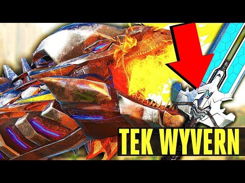 Ark Survival Evolved   TEK WYVERN WILL RUIN ARK GAMEPLAY! TEK SWORD, TEK  SHIELD, NEW BIONIC SKINS!