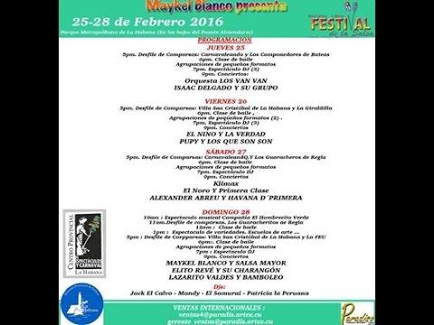 Alexander Abreu en el 1er Carnaval de Salsa 2016 en Cuba